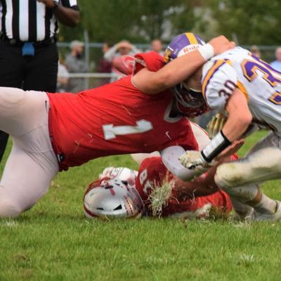 Sack Artist: Shelby defensive end Marek Albert terrorizing MOAC foes