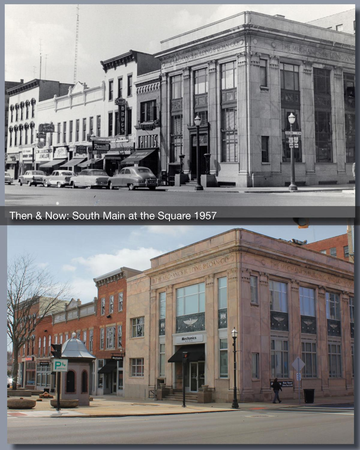 Then & Now: South Main @ the Square 1957