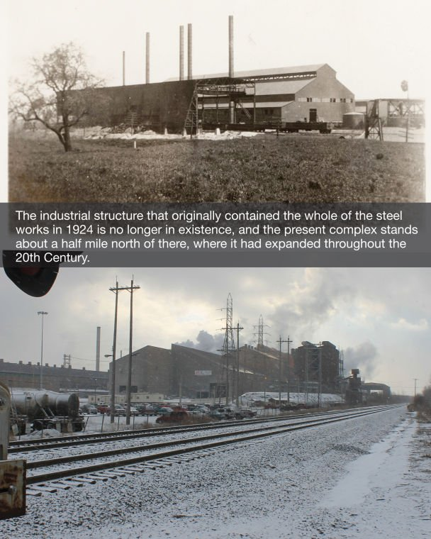 Then & Now: the steel mill