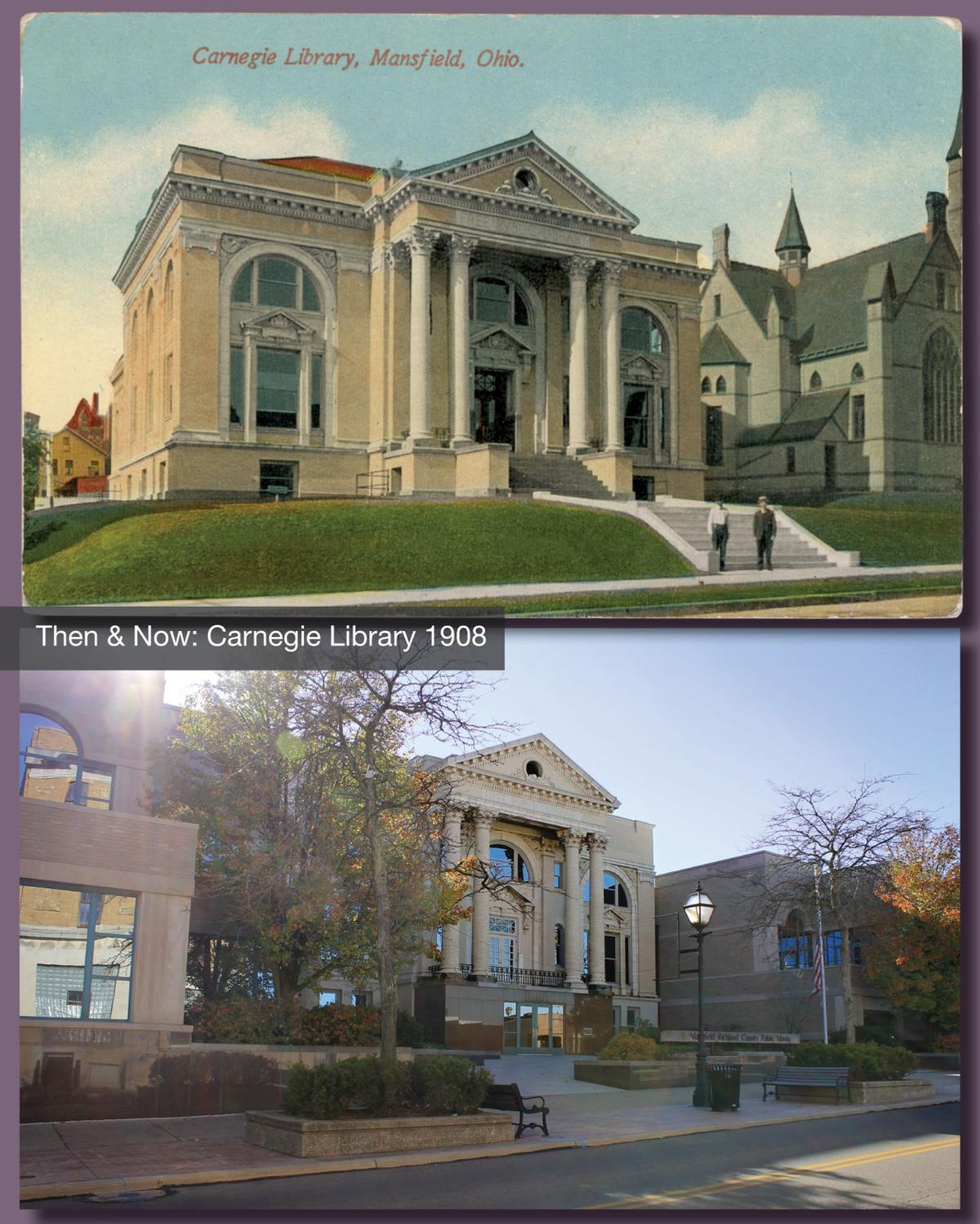 Then & Now: Mansfield Carnegie Library 1908