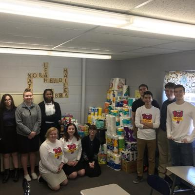 Temple Christian students start supply drive for Harmony House