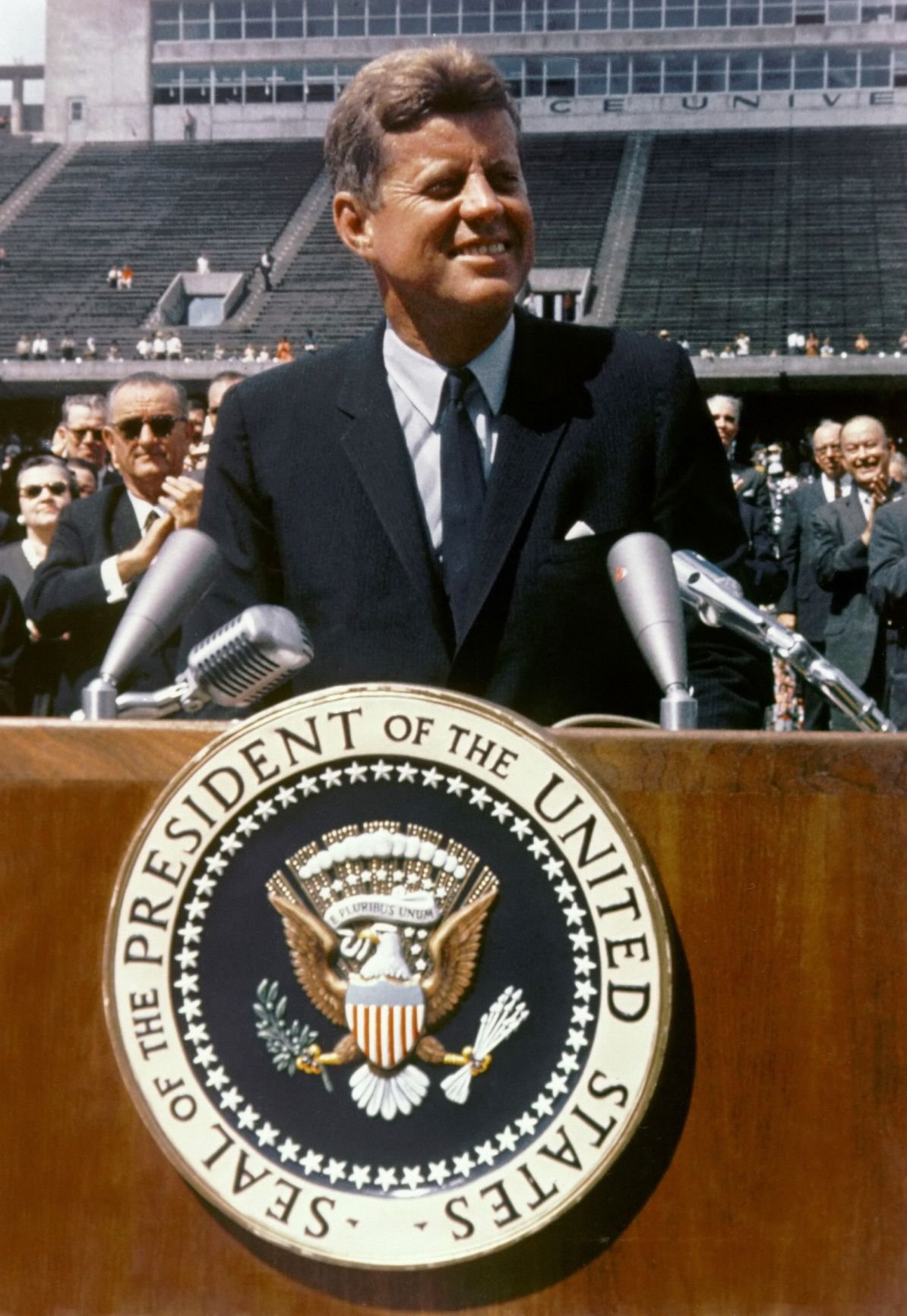 President John F. Kennedy: 'We choose to go to the moon!'