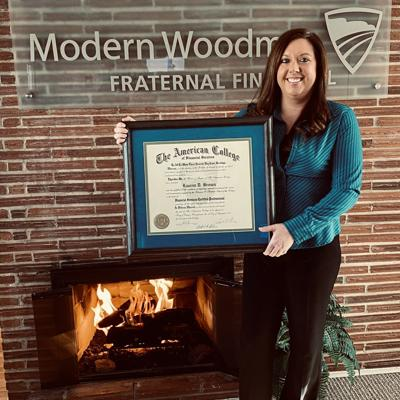 Brown earns financial services certified professional designation
