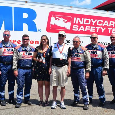 1 year after cardiac arrest, Virginia man returns to thank IndyCar safety team members