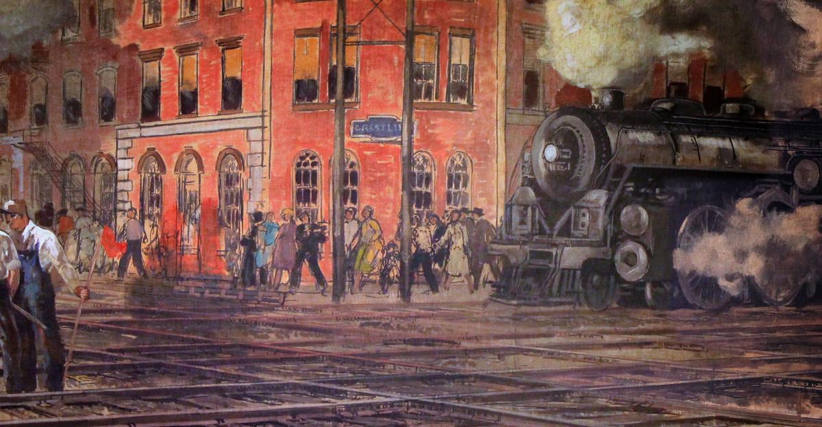 Crestline's Post Office mural