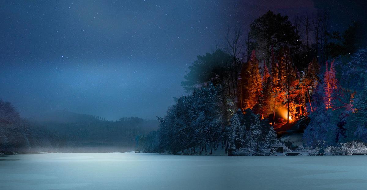 Eagle Island bonfire