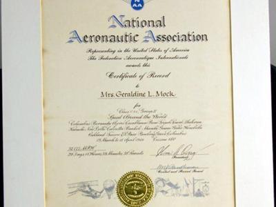 Newark woman set 7 records in 1964 worldwide flight