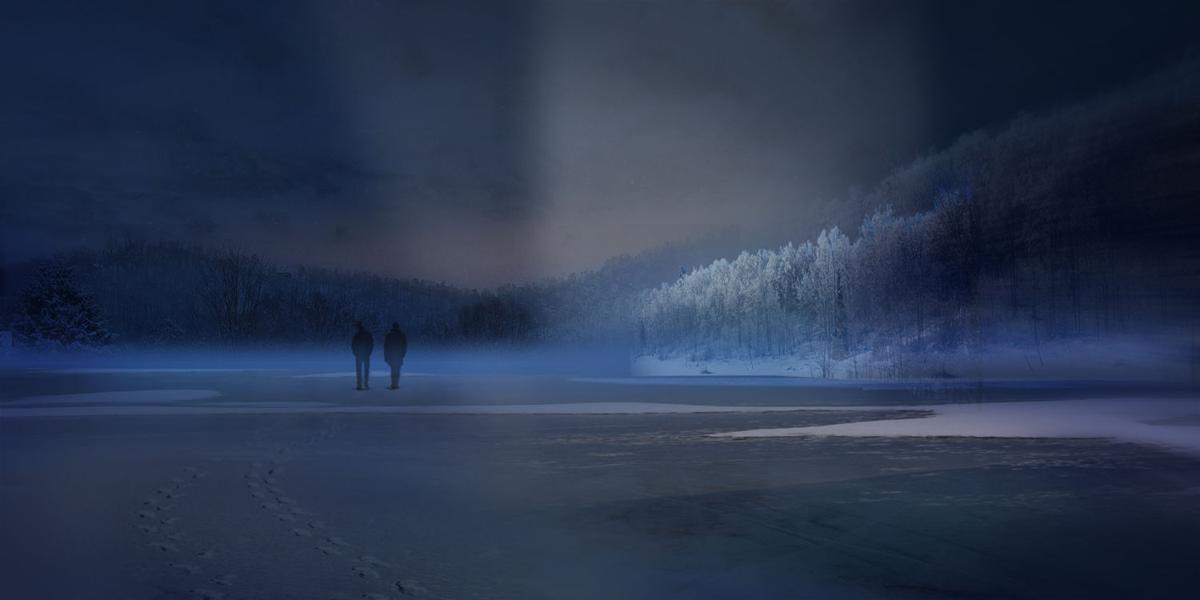 Ice walking at Charles Mill