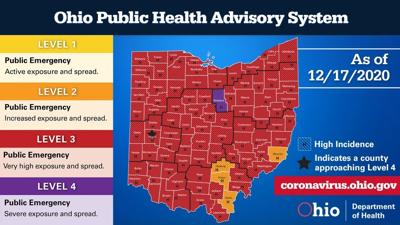 COVID-19: Richland County is only 'purple' county in Ohio