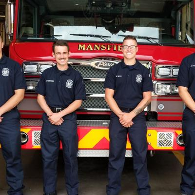 Mansfield Fire Dept. welcomes 4 new firefighters