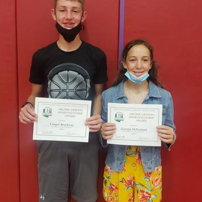 Crestview honors 8th grade Archie Griffin Sportsmanship Award winners