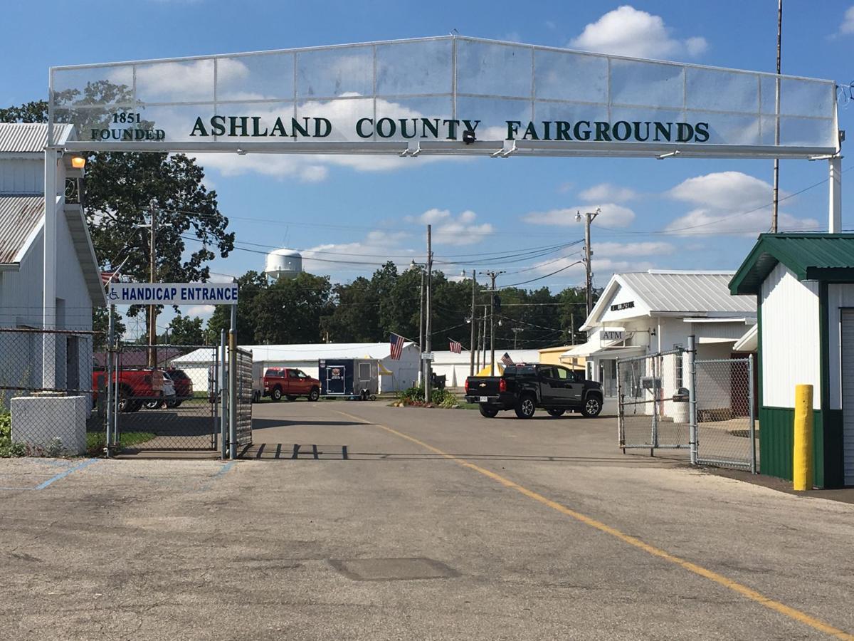 Ashland County Fairgrounds sign