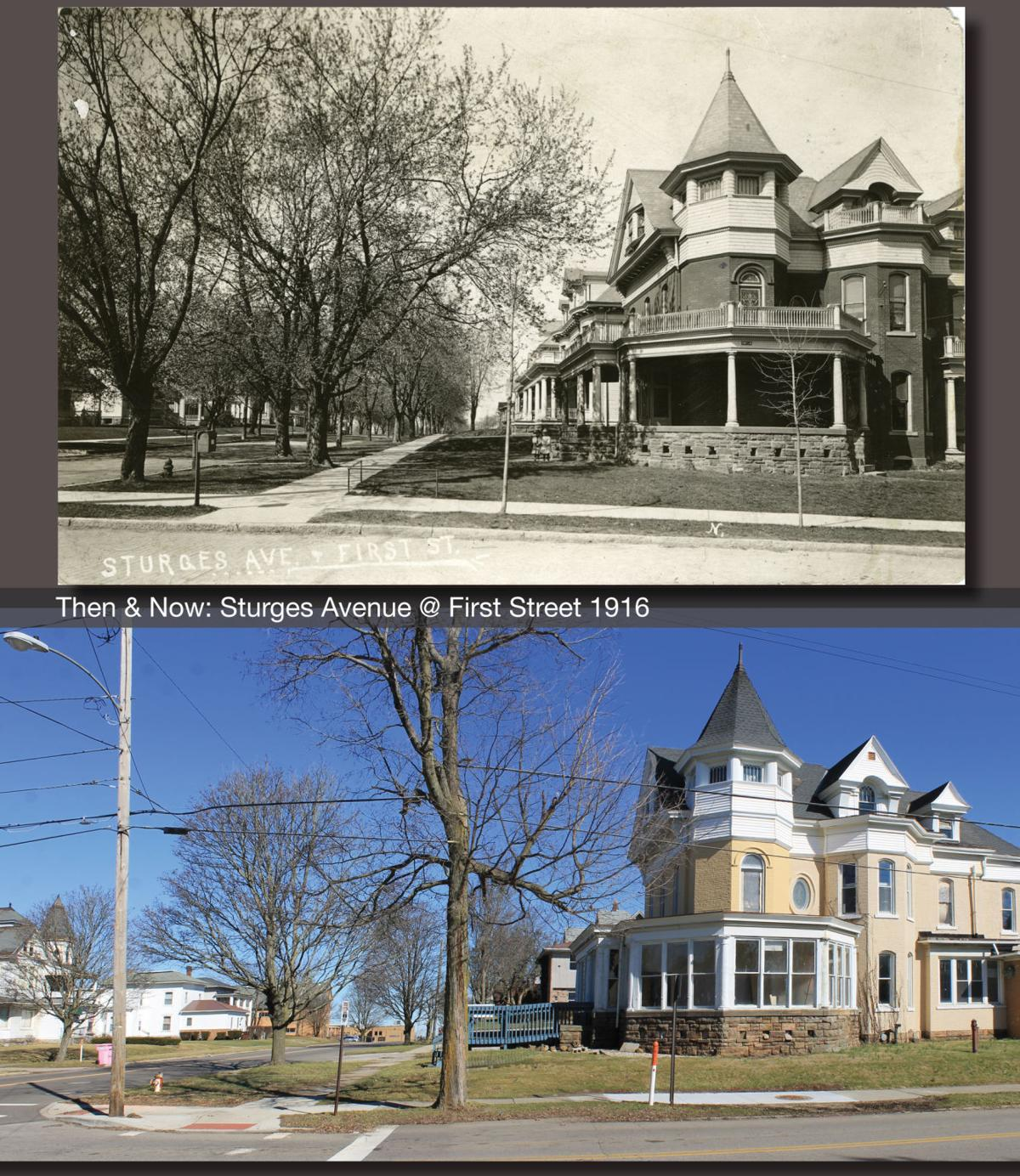 Then & Now: Sturges Avenue @ First Street 1916