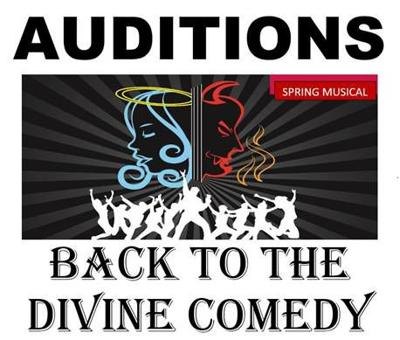 Auditions for Back to the Divine Comedy logo