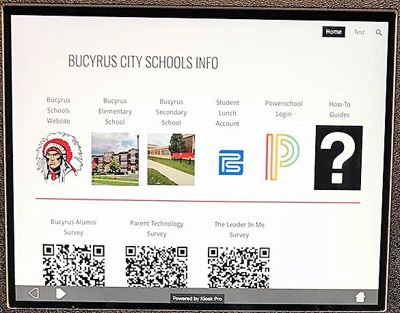 Bucyrus Schools kiosks