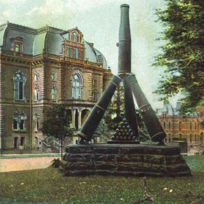 Then & Now: Memorial Cannon 1907