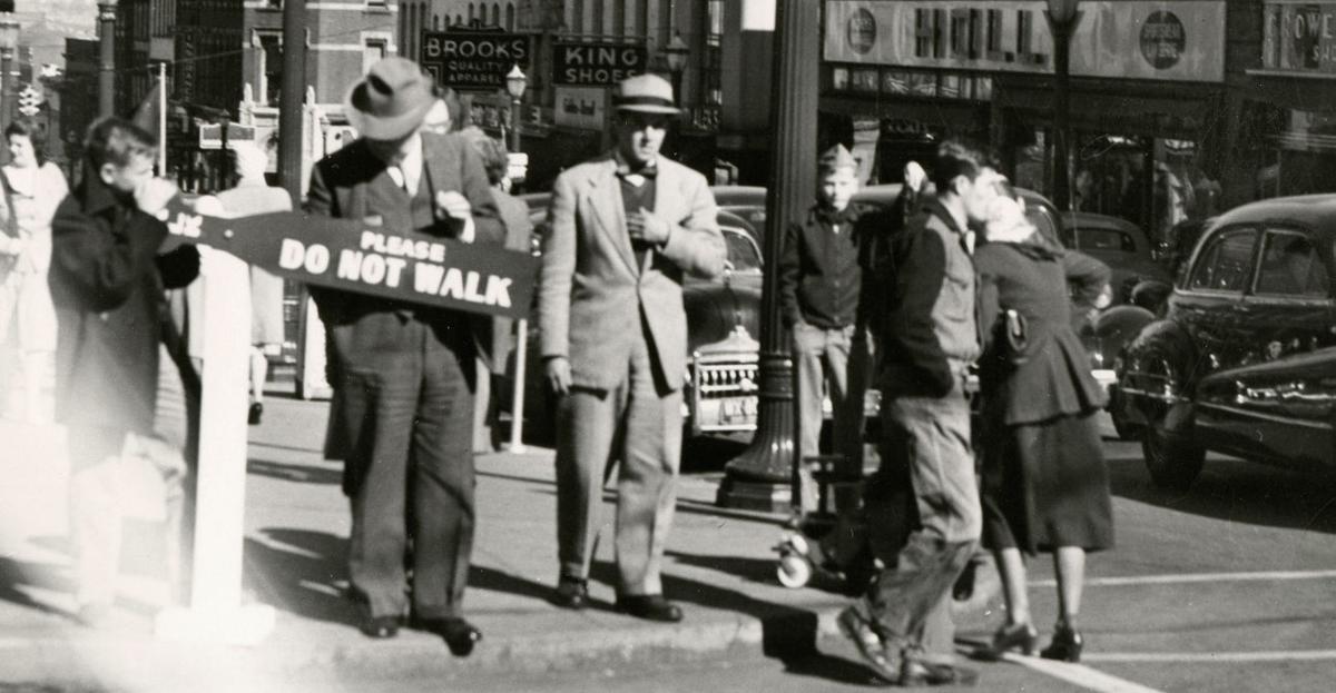 Crossing Third Street 1949
