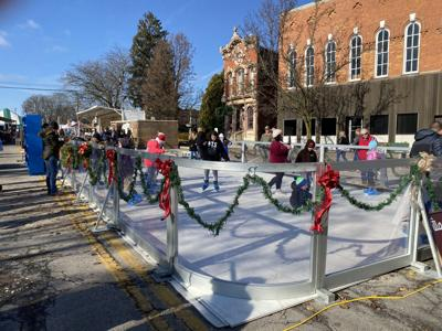 Plymouth's Christmas in the VIllage skaiting rink
