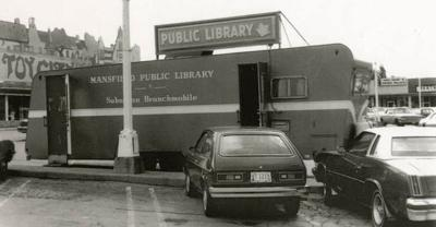 Bookmobile at West Park Shopping Center