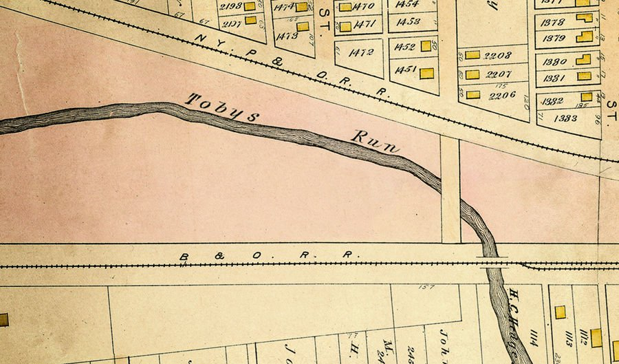 Map of Toby's Run in Mansfield