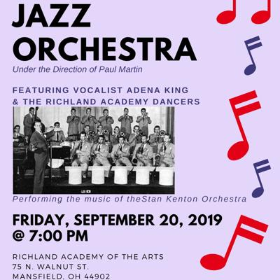 Richland Academy of the Arts kicks off new season with Mansfield Jazz Orchestra Concert