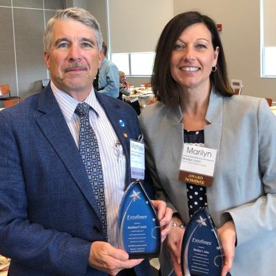Matthew Smith and Marilyn John honored by OACC