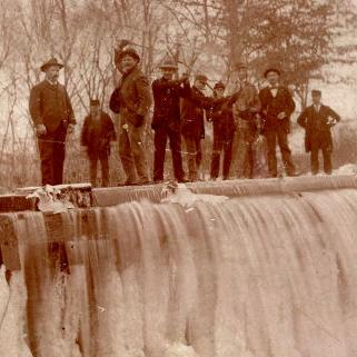Ice on North Lake Park created multiple opportunities through the years
