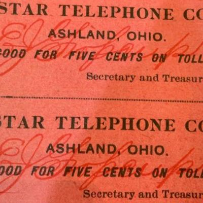 Star Telephone Company began in Butler in 1896