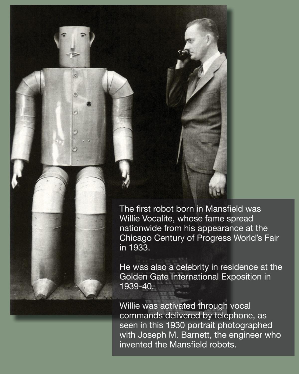 Willie Vocalite and his creator JM Barnett