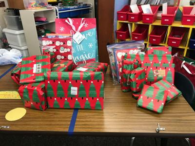 Christmas presents sent to Lexington Court Care Center