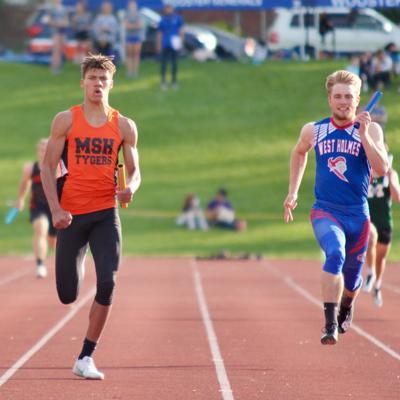 Mansfield Senior High's Bradley shines at district track meet