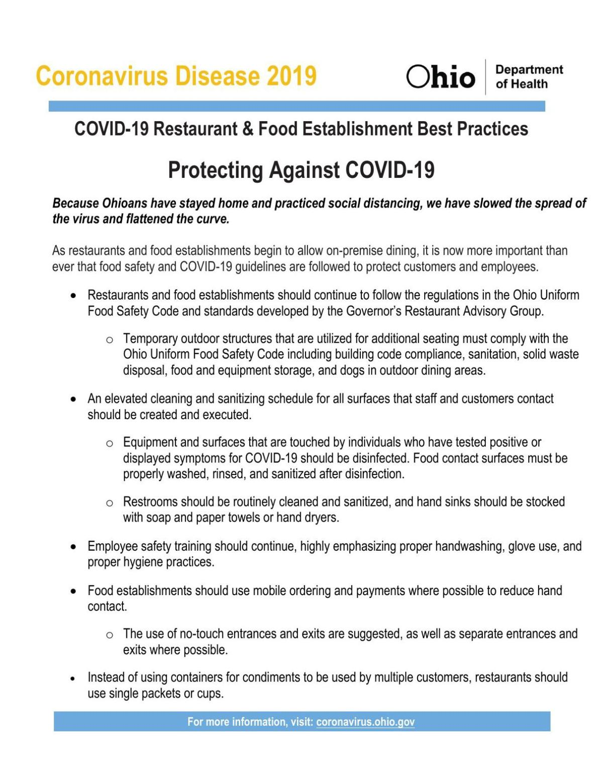 Restaurant-food service guidelines