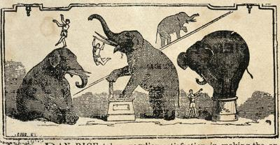 Jumbo comes to Mansfield: 1883