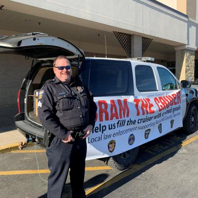 Area law enforcement agencies collect 8,100 pounds of food for local pantries