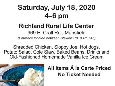 Richland Rural Life Center offers July 18 ice cream social
