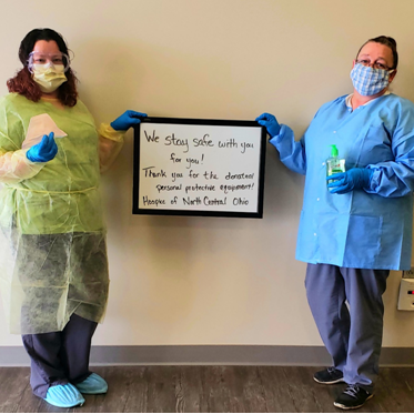 Hospice of North Central Ohio salutes supporters amid pandemic