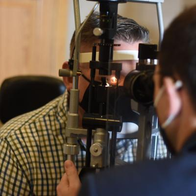 Patient receives Minimally Invasive Glaucoma Surgery to reduce chance of losing eyesight
