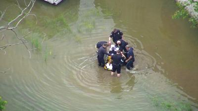 WATCH: Mansfield safety forces video shows man in wheelchair saved from flood