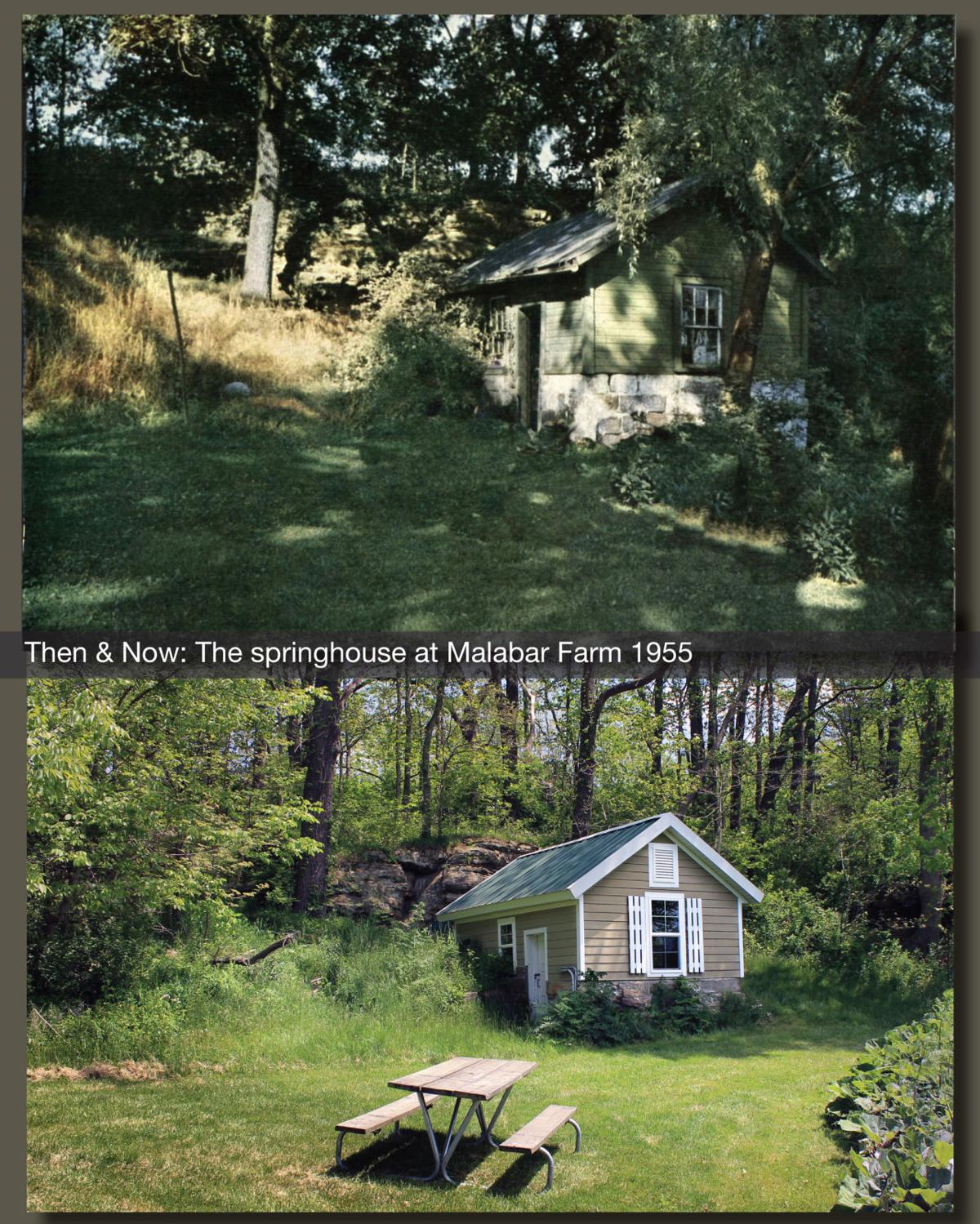 Then Now The Springhouse At Malabar Farm 1955