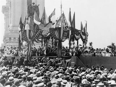 Behind the lens: She shot the famous photo of President McKinley's last speech