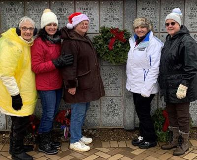 DAR's holiday spirit includes sharing wreaths, pajamas