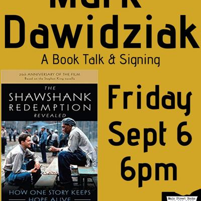 Author of 'The Shawshank Redemption Revealed' to speak Sept. 6 at Main Street Books