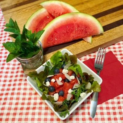 Try a refreshing watermelon salad for your Fourth of July celebration