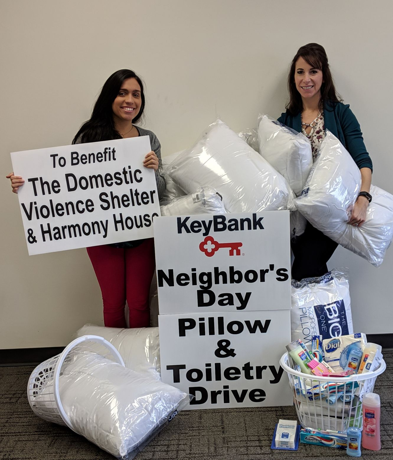 KeyBank hosts pillow & toiletry drive on May 15