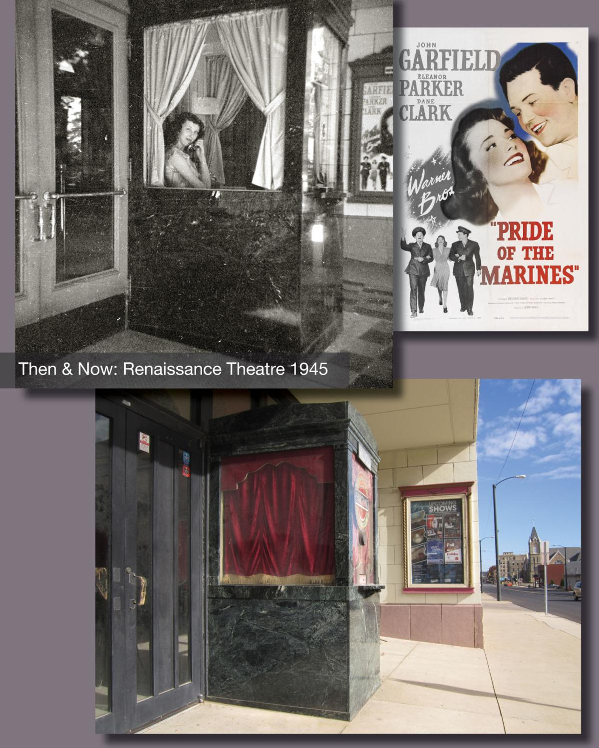 Then & Now: The box office at the Ren 1945