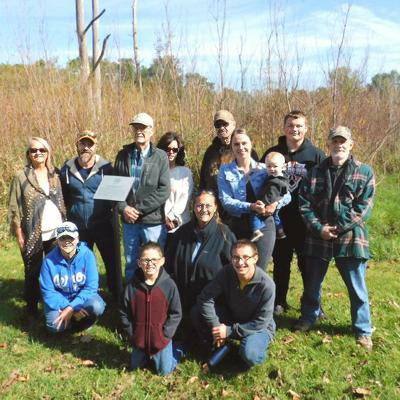 Norris family honored for its role in Black Fork Wetlands development