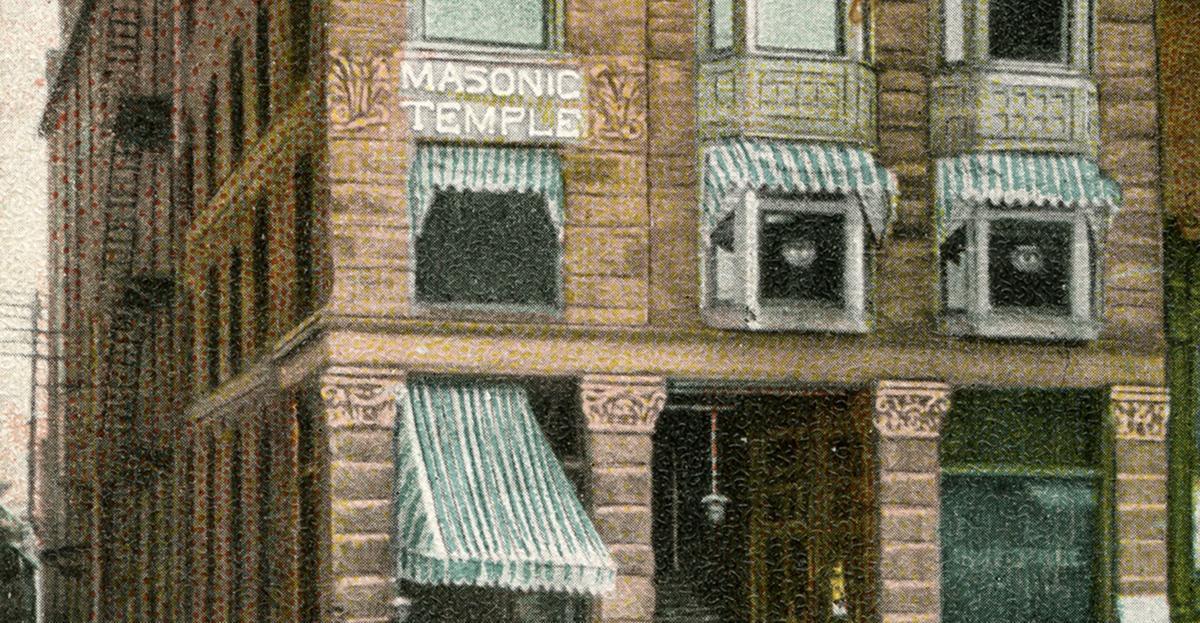 The Masonic Temple on Main Street