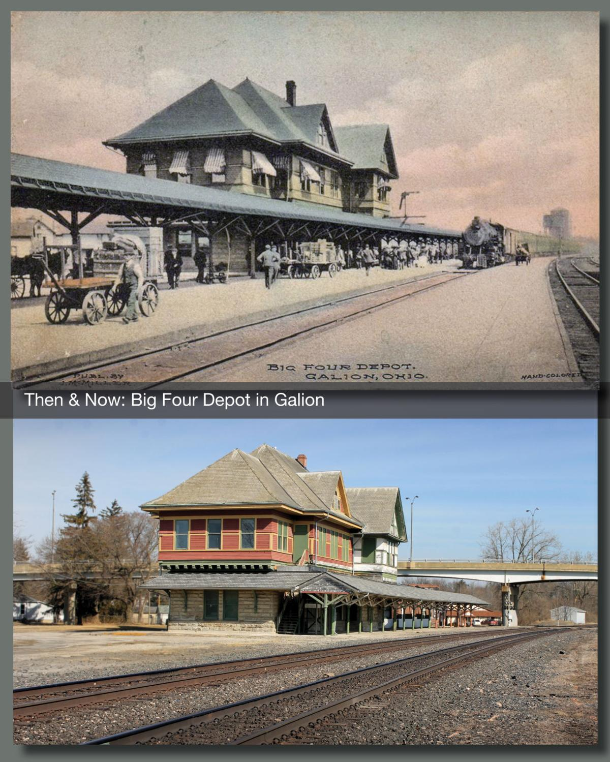 Then & Now: Big Four Depot in Galion