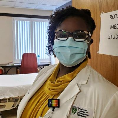 Medical student on path toward residency spends two weeks living inside Mansfield Hospital