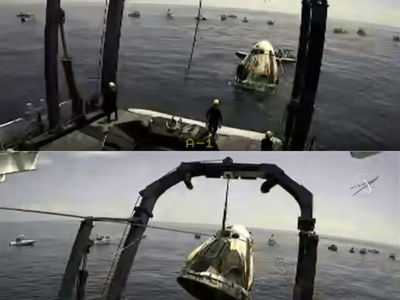 Splashdown! SpaceX returns two U.S. astronauts from space